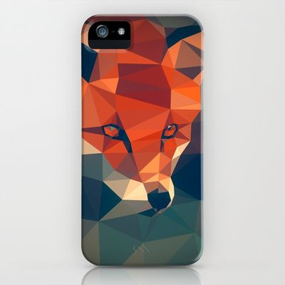 Triangular fox iPhone & iPod Case by Matěj Kašpar Jirásek - $35
