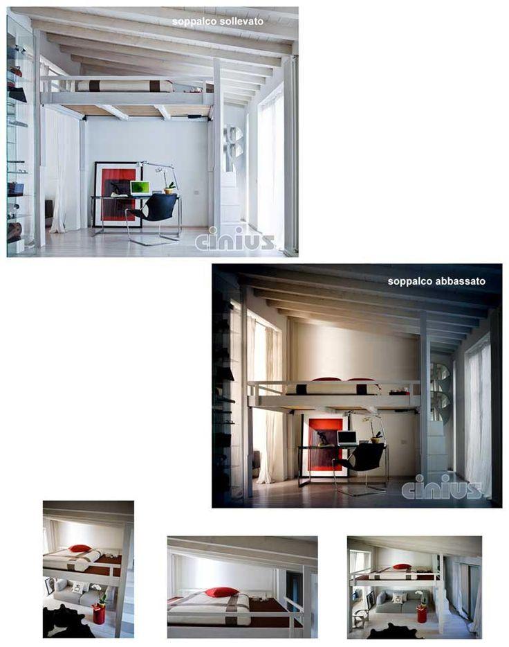 Cinius - Letto soppalco RISING: regolabile in altezza elettricamente. Un nuovo modo di vivere i tuoi spazi..Una stanza in più... Soppalco il legno. Letti a soppalco in legno
