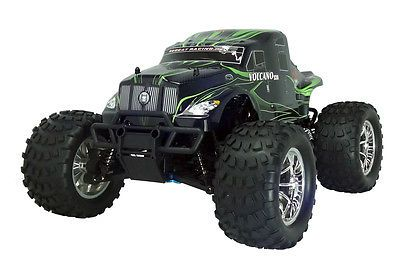 ﹩239.99. 1/10 VOLCANO S30 Redcat Nitro RC Truck 2.4ghz Remote Green Semi with Starter Kit    Type - Monster Truck, Fuel Type - Nitro, Scale - 1:10, Required Assembly - Ready to Go/RTR/RTF (All included), Color - Green, Motor Type - Nitro, 4WD/2WD - 4WD, UPC - 609132480614