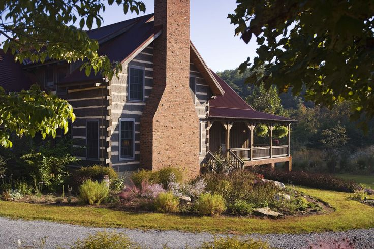 16758 best country cabins images on pinterest log cabins for Brick cabin
