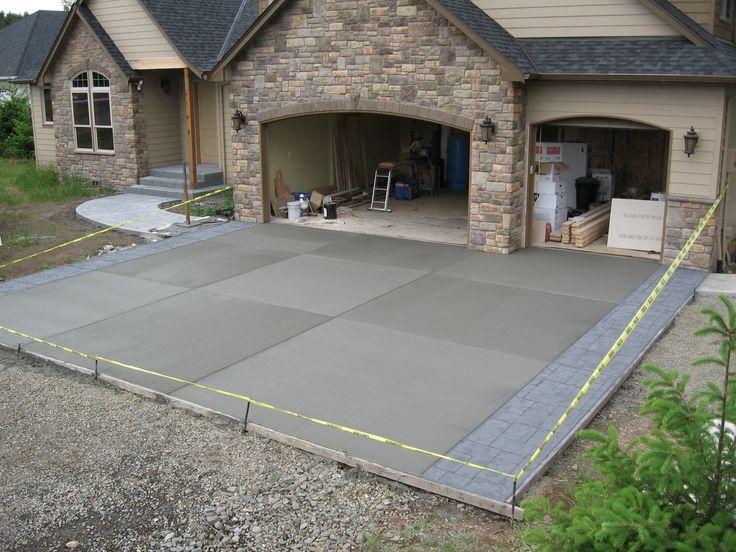 20 concrete driveways ideas on pinterest stamped concrete driveway