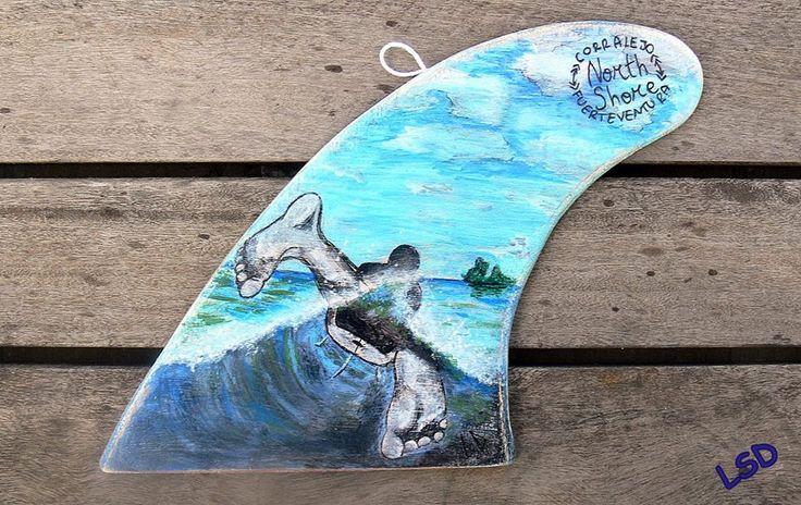 SURF LIFE - Acrylic & Uniposca, Regular fin