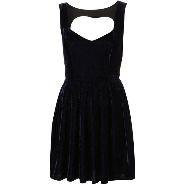 Navy Velvet Heart Back Dress by Dress Up Topshop** ($110) ❤ liked on Polyvore featuring dresses, vestidos, topshop, velvet, women, black dress, heart cutout dress, black velvet cocktail dress, black cutout dress and navy cocktail dress