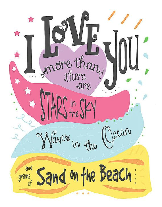 I Love You More Than Print 11x14 stars in the sky by SweetestPie