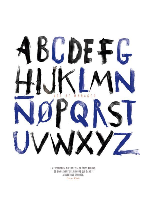 The Irregular alphabet by Juanri Castaño, via Behance