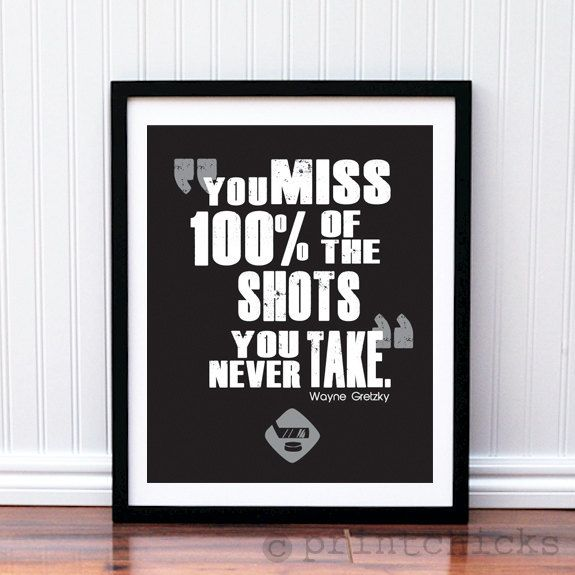 Hockey Poster- Hockey Quote Print - Hockey NHL Typography Poster Print - 8 X 10 via Etsy.