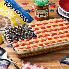 I found the hottest tastes of the summer at Tostitos.com like these Star-Spangled Dip. Check it out.