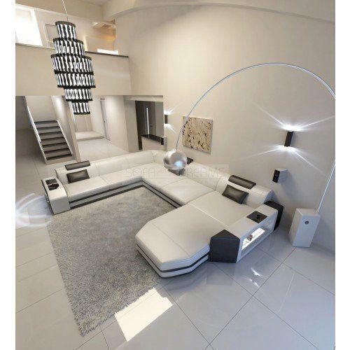 Mega Interior Prato XXL with lighting white-black