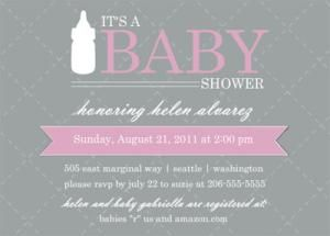 9 Free Online Baby Shower Invitations Your Guests Will Love: Pink and Taupe Quilted by Purple Trail