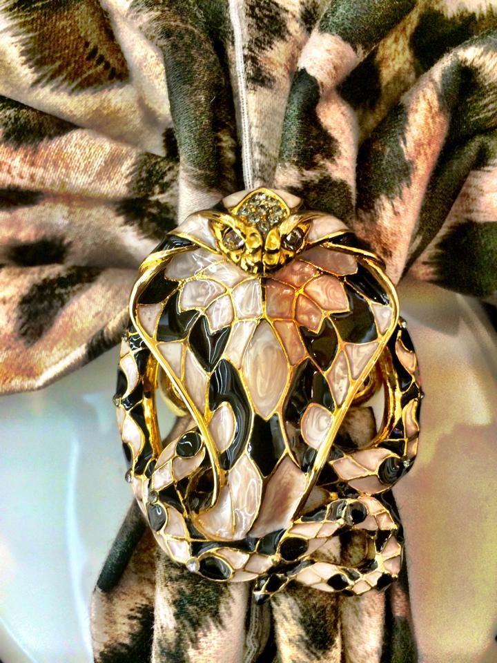 COBRA - Napkin Holder  Available at Palazzo Collezioni Boutique Sydney COBRA - Napkin Holder   Available at Palazzo Collezioni Boutique Sydney #robertocavalli #luxury #interior #sydney #follow #homedecor #madeinitaly