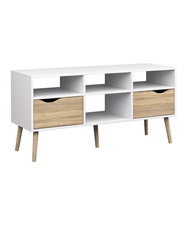 This Diana Two-Drawer TV Stand by Tvilum is perfect! #zulilyfinds