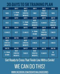 Whether it be your first or your fastest -- this little plan can help! 30 Days to 5K Training Challenge   Eat. Drink & be Skinny! #workout #exercise