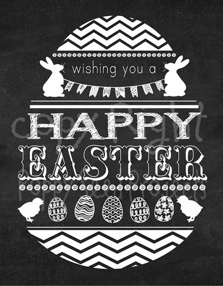 New Happy Easter Chalkboard print from Poppy Seed Projects.  You can purchase it as part of a DIY craft kit or just the print only.