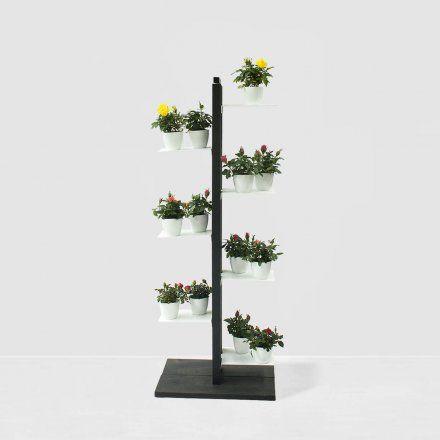 Le Zie di Milano/Porta vasi Zia Flora a colonna H105 cm - nero/Lovepromo