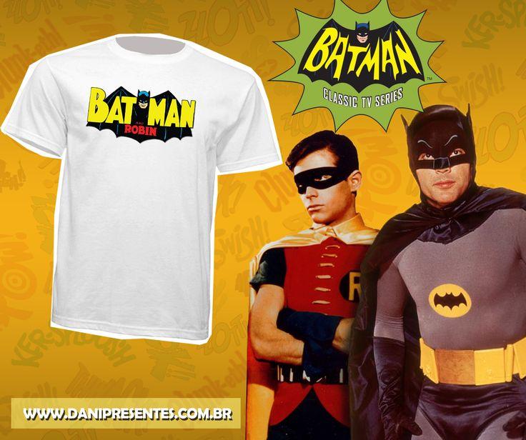 Para os fãs da dupla dinâmica Batman e Robin!    https://www.danipresentes.com.br/camiseta-batman-e-robin-retro  .  .  .  #danipresentes #anos80 #nostalgia #dupladinamica #batmanerobin #80s #90s #anos90