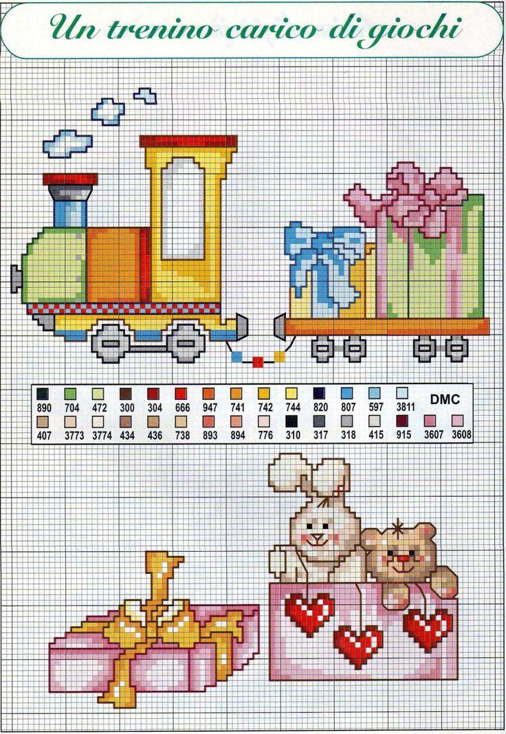 Risultati immagini per schemi punto croce bambini