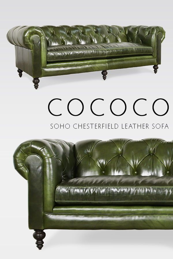 Soho Chesterfield Leather Sofa Made In Usa Leather