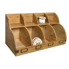 Meuble présentoir en bois avec 4 casiers 57x94cm h.29cm