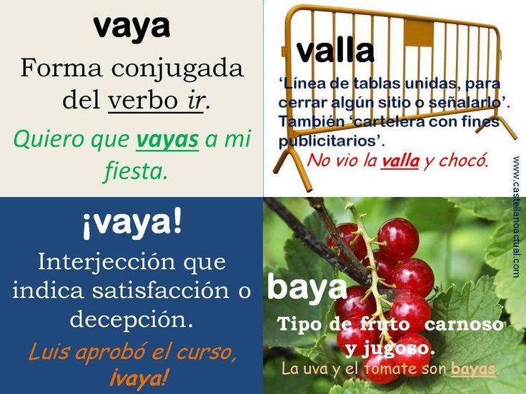 «vaya», «¡vaya!», «valla», «baya»: un repaso :)