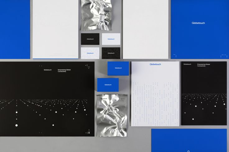 Brand identity, stationery and print communication for global mobile communications platform Globetouch by graphic designs studio Bunch