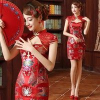 Category: Women's evening dress Use: wedding supplies/prom Color: red Dimensions: S, M, L, XL size