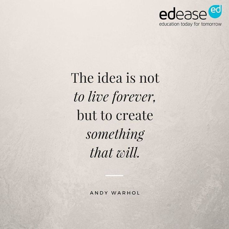 What will you create that will live forever? #wednesdaywisdom #quote #andywarhol #inspiration #life #learning #legacy