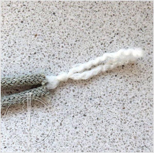 jak zszyć sznurek bawełniany