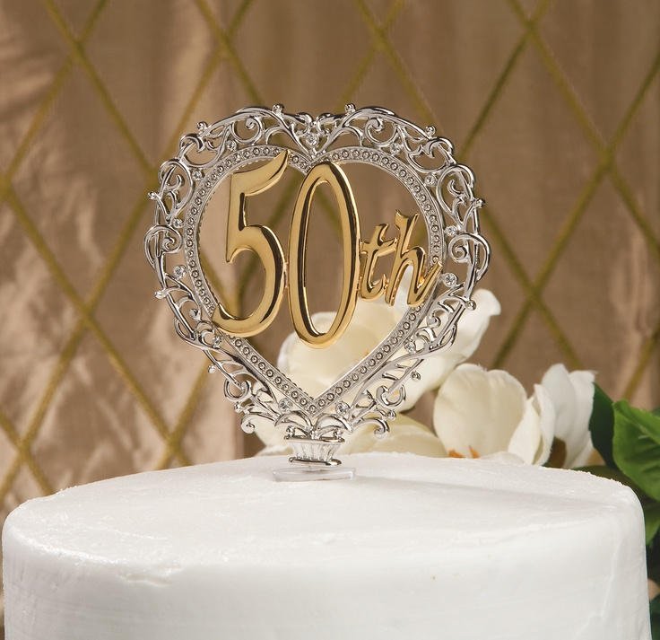 39 best 50th wedding anniversary images on pinterest 50th 50th anniversary cake topper in heart shape 12395 junglespirit Image collections