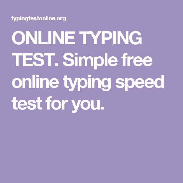 ONLINE TYPING TEST. Simple free online typing speed test for you.