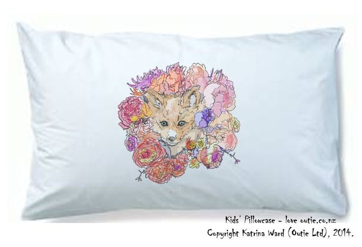 Woodland Fox Pillowcase via Outie NZ. Click on the image to see more!