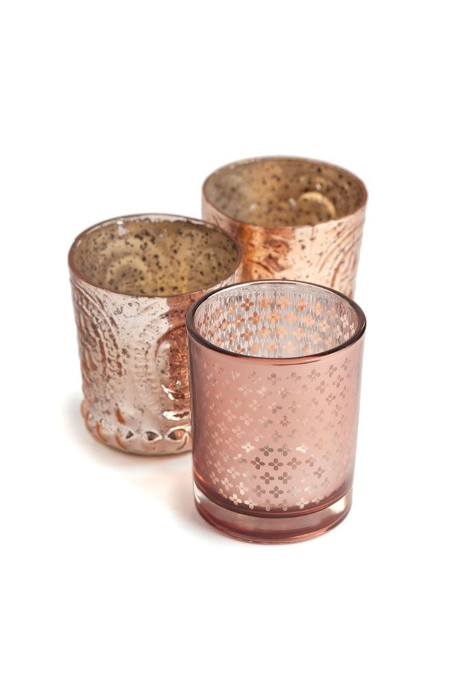 pink Mercury Glass for Sale | Everything is Coming Up Rose Gold | Bridal and Wedding Planning ...