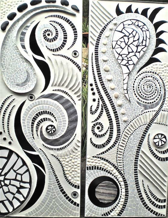 Wave panels 1 and 2 as a diptych.