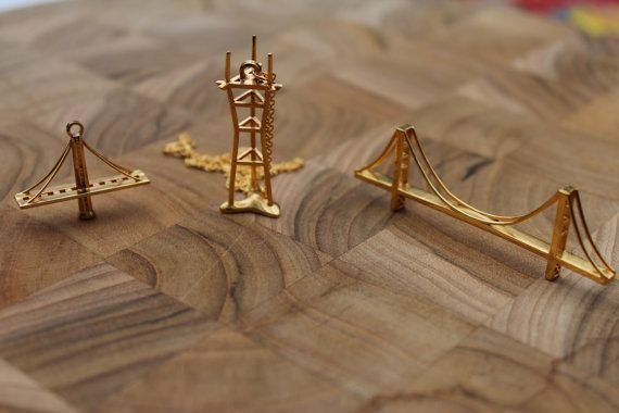18 best images about 3d printed golden gate bridge for Golden gate bridge jewelry