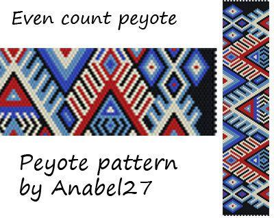 Peyote Pattern #107 Beading patterns Peyote cuff pattern Beadwork patterns Bead designs Beaded bracelet patterns Peyote beading Bead pattern