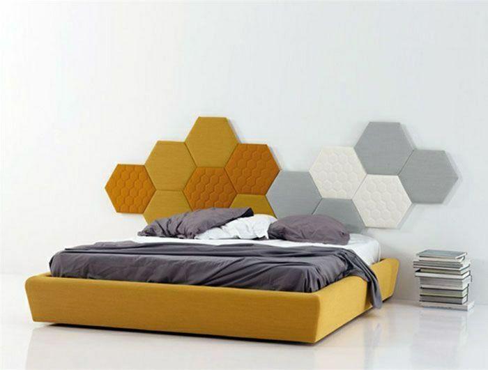Schlafzimmer Mit Schonem Wandpaneel Wandpaneele Bett Mobel Ideen Kopfteil