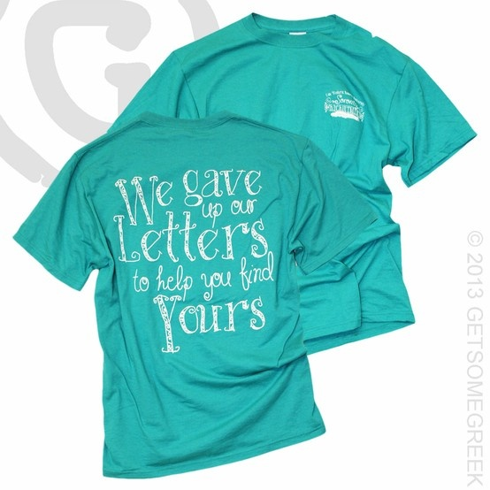 66 best panhellenic love images on pinterest panhellenic for Cute greek letter shirts