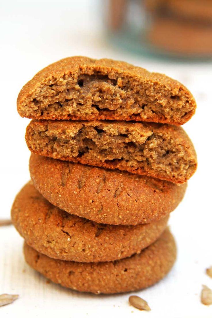 Receita de Biscoito Doce caseiro saudável e nutritivo sem glúten e sem lactose com sementes de girassol