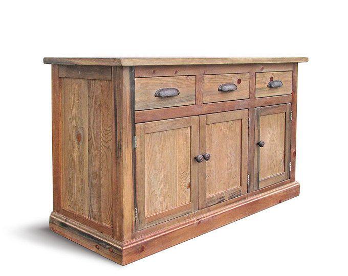 Aparador, Buffet, madera recuperada, los medios de comunicación consola, consola de gabinete, soporte de la TV, hecho a mano, rustico