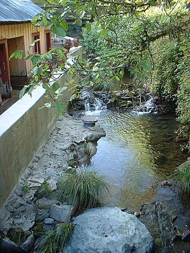 Orr Hot Springs Resort, Ukiah Calif. $30.00 day use, $50.00/day camping, $250.00/rooms. Communal kitchen.