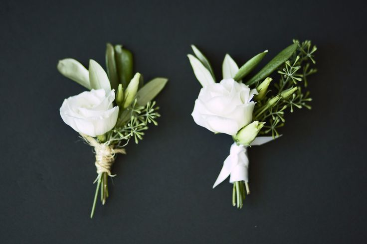 father/groom/best man flowers: rose and olive leaf Boutonniere