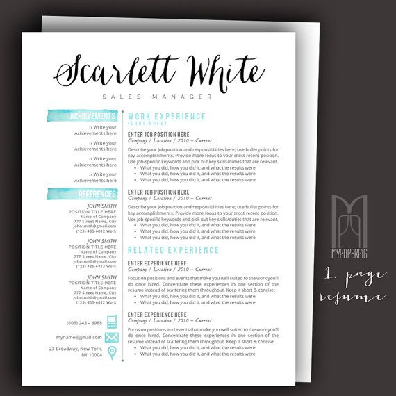 15 best Modern \ Creative RESUME TEMPLATES -- (CUSTOM NAME HEADER - concise resume template