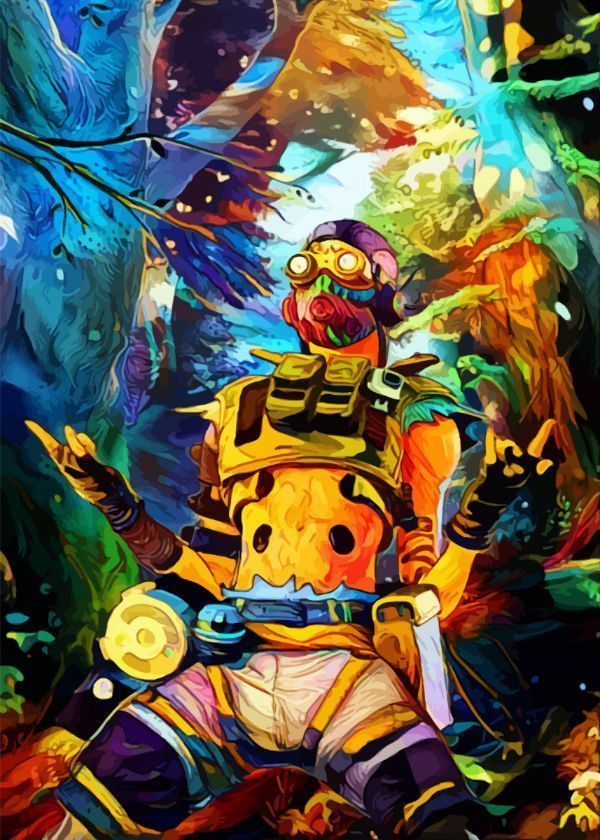Apex Legends Surrealist Characters Octane Displate Artwork By Artist Space Chimpa Part Of A Displate Geek Me Art Artistic Space Artwork Legend