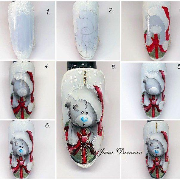 картинки мишек тедди на ногтях