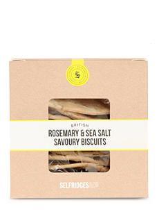 SELFRIDGES SELECTION British Rosemary Sea Salt savoury biscuits 110g