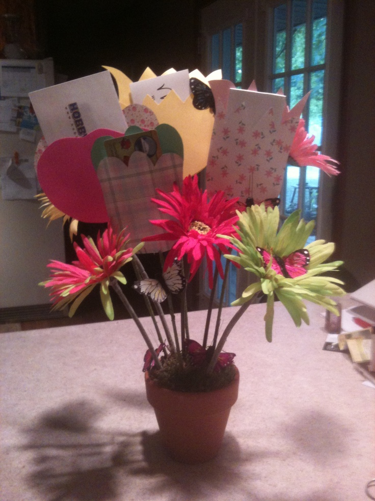 This Is A Gift Card Boquet That I Just Made For A Co Worker/friend That  Retired Last Friday. Hughes N Anthony