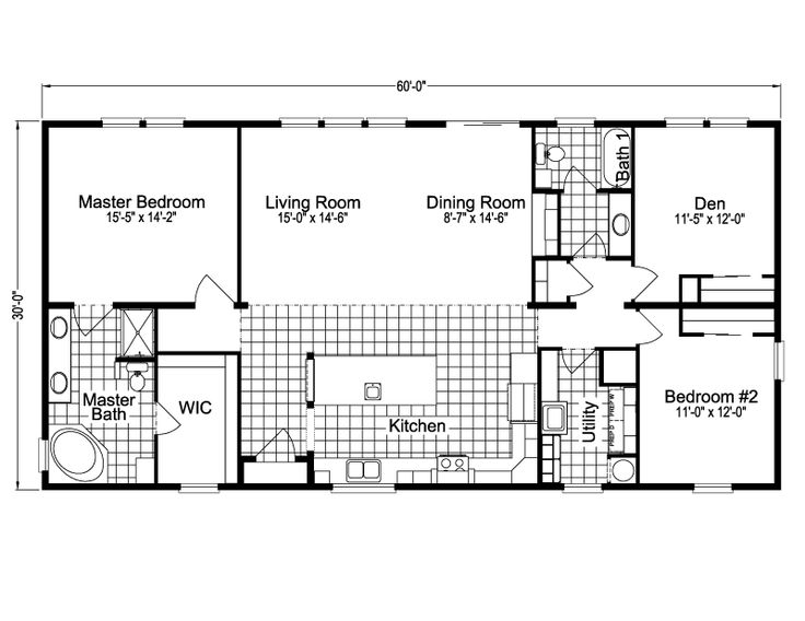 Photo Of Malibu TDTC Home Floor Plan Manufactured and or Modular Floor Plans available floor plan