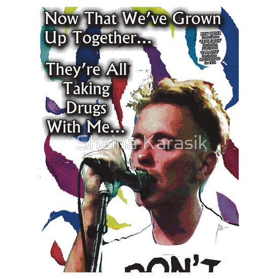 """New Order True Faith Roxy `1987 """"They're All Taking Drugs With Me"""" Shirt"""