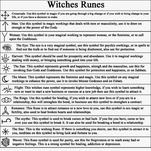 Runes witches and symbols on pinterest
