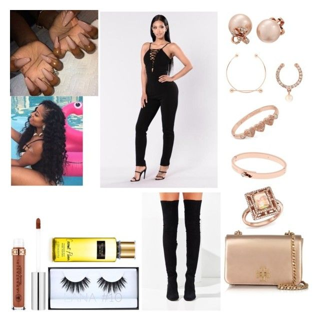 Baecation- A-Boogie by mirah123 on Polyvore featuring polyvore fashion style Anissa Kermiche Jeffrey Campbell Tory Burch Kate Spade Maria Black Betsey Johnson Michael Kors Bloomingdale's Huda Beauty Anastasia Beverly Hills clothing