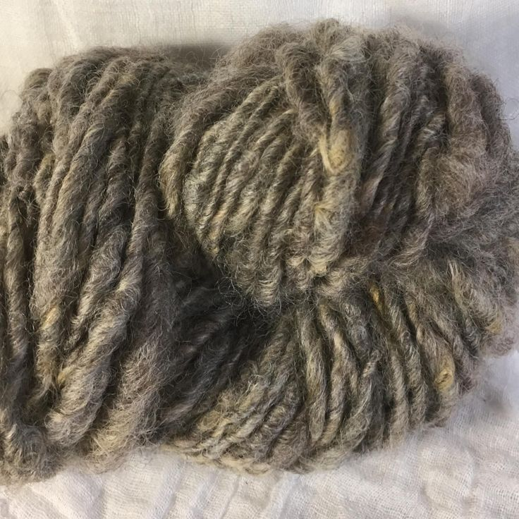 Natural Grey English Leicester  Handspun Chunky Yarn by hawthornecottage on Etsy